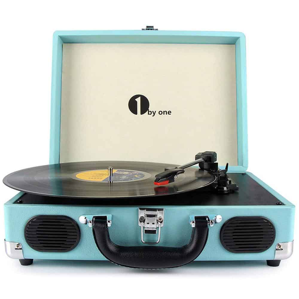 1byone suitcase record player with speakers