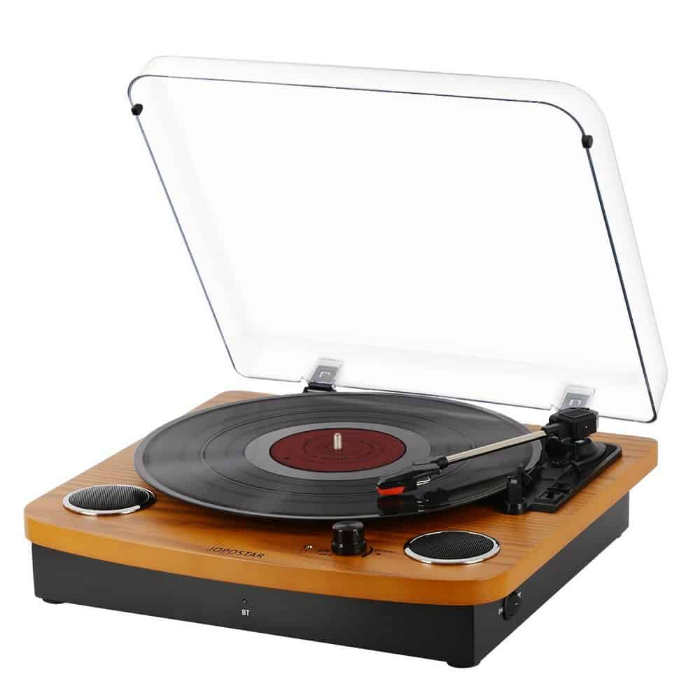 Jopostar record player with speakers