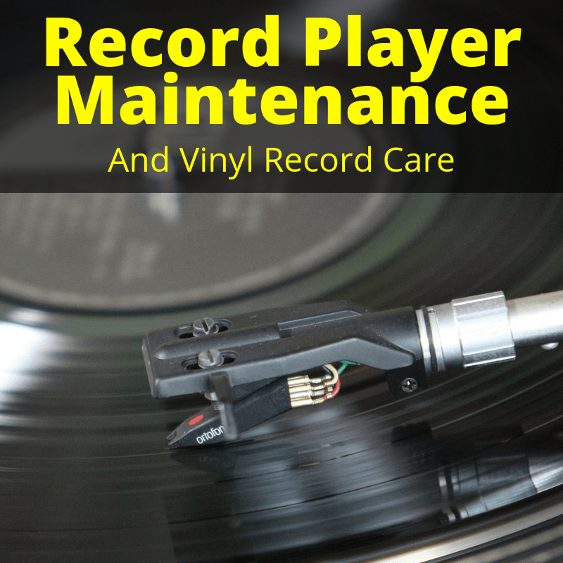 Record player maintenance tasks
