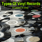 Many types of vinyl records
