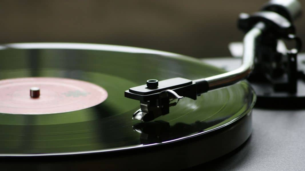 tonearm screwed into place