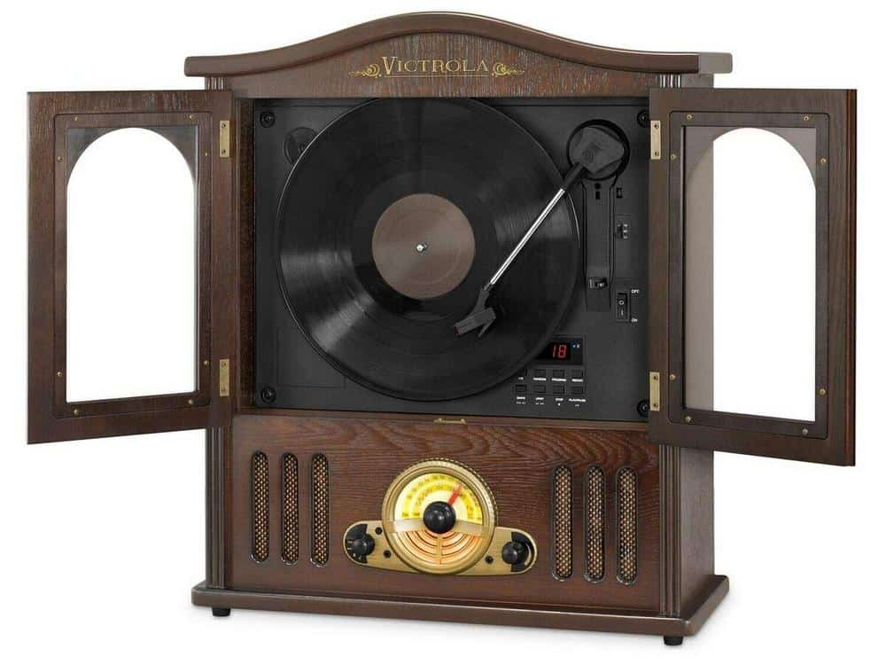 Victrola Wood Wall Mount Turntable