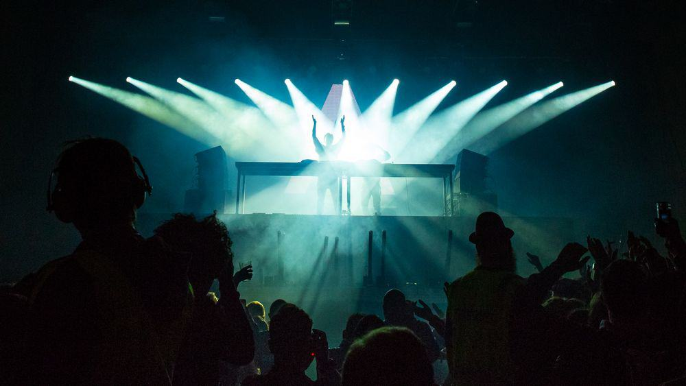 DJ playing a club
