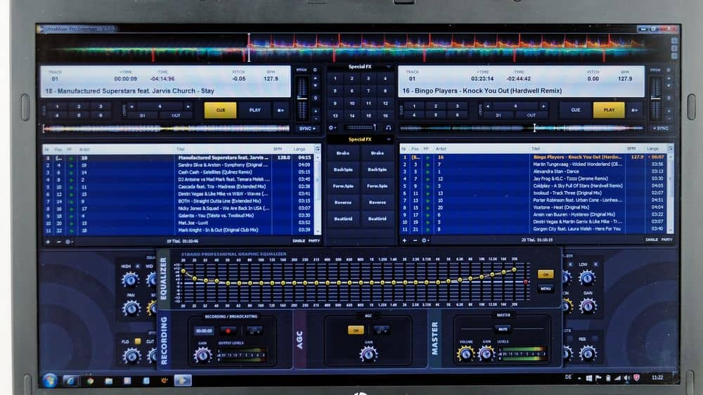 A DJ software program