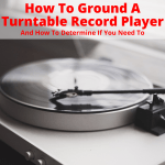 Grounded turntable record player